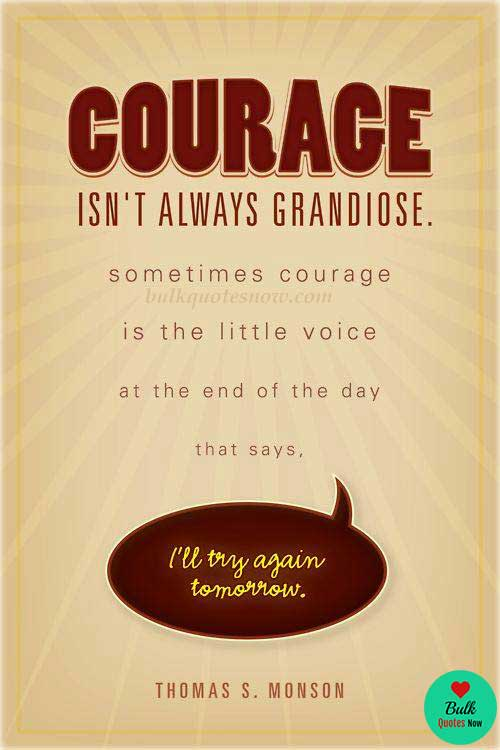 Short strength quotes about courage and hope