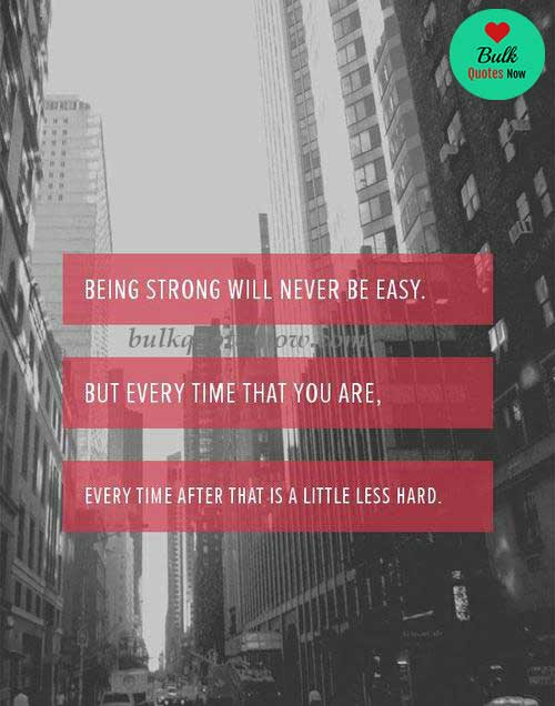 being strong