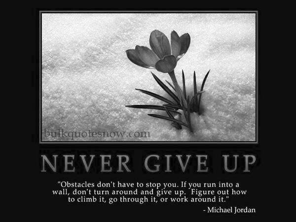 get motivated and never give up