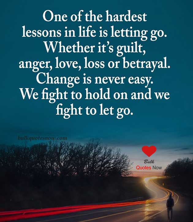 one of the hardest lesson of life