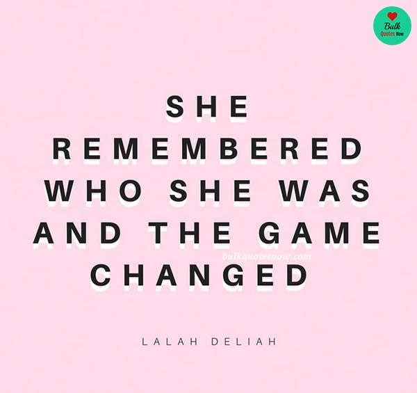 strong woman game changed quotes