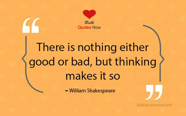 William Shakespeare philosophy quotes