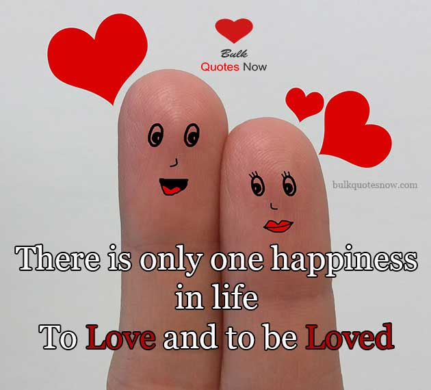happiness in life to love