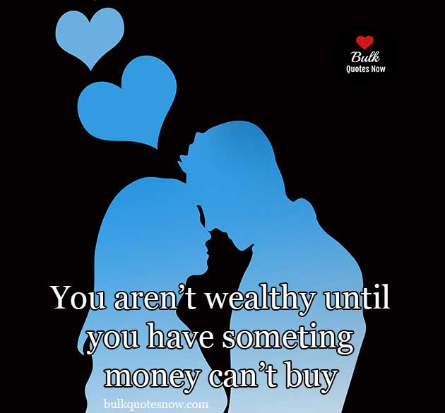 love is something money can't buy