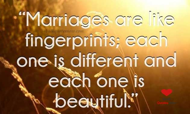 marriage is like fingerprints