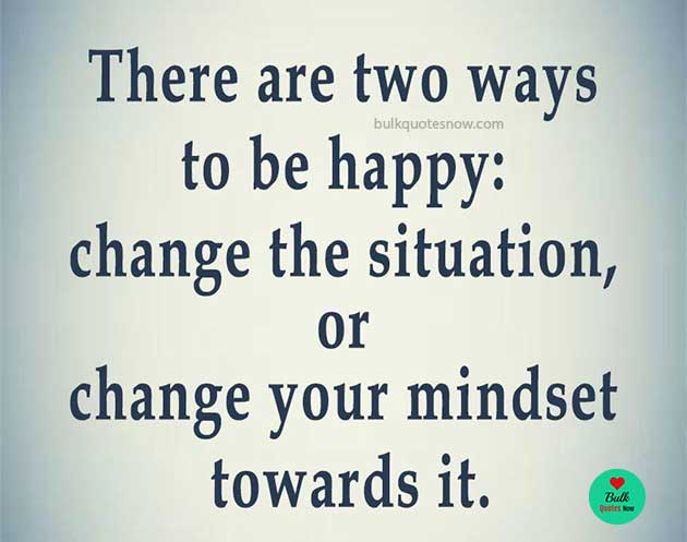 two ways to be happy