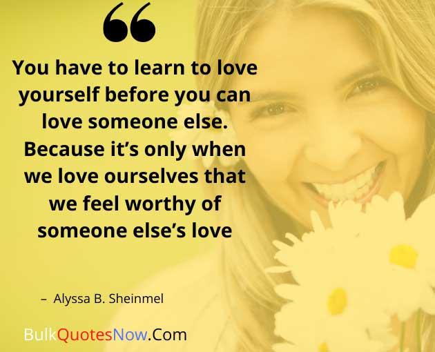 love yourself sayings