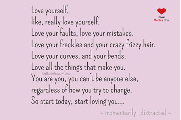 really love yourself