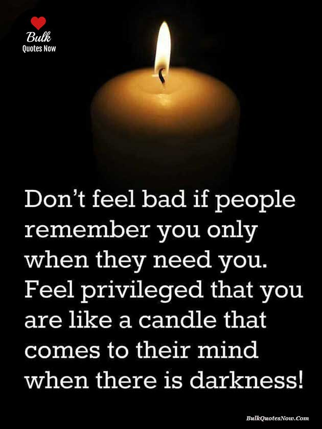 be like a candle