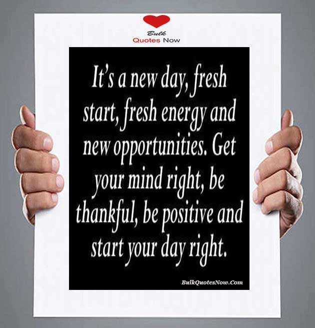 be positive in life