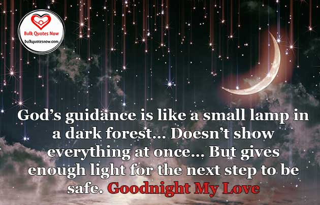 My love good night