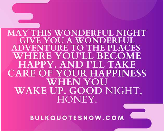 Romantic good night quotes for her