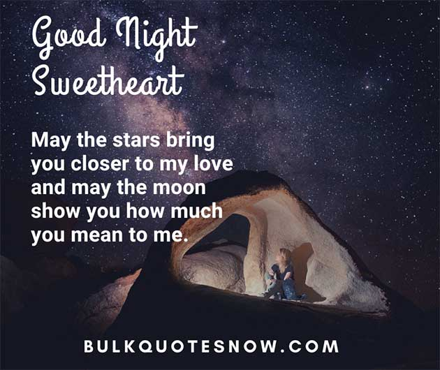 good night romantic quotes for her