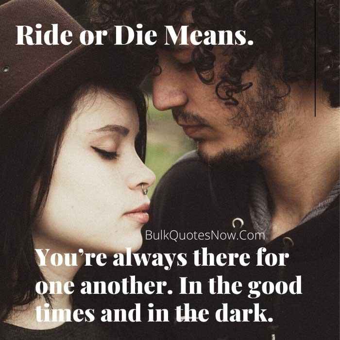 ride or die meanings