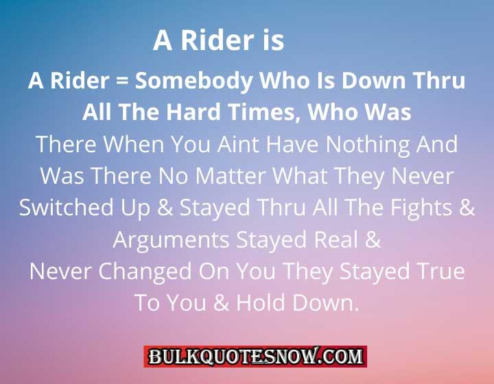 ride or die means