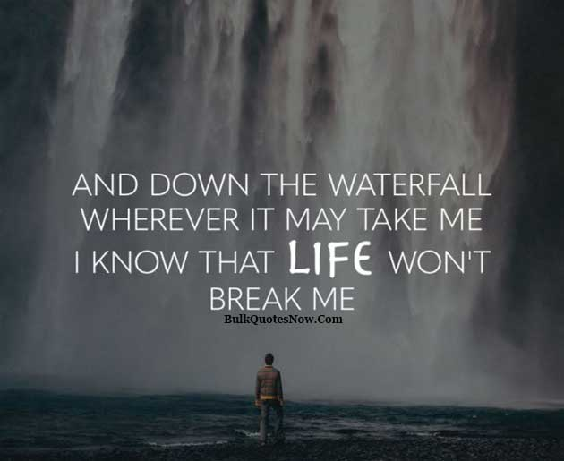 life like waterfall quote