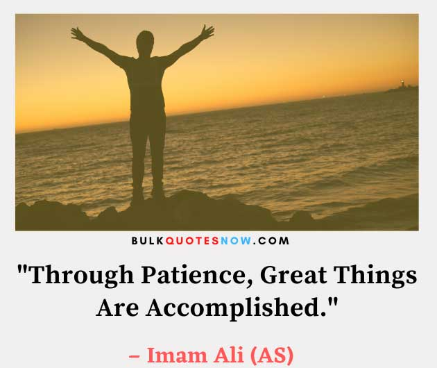 Islam says on patience