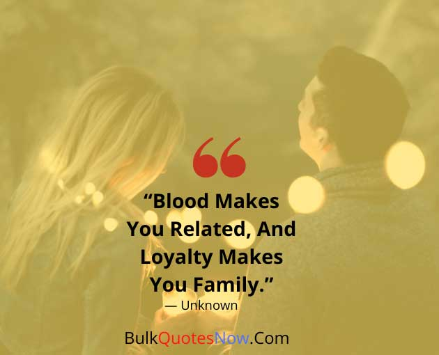family loyalty quotes