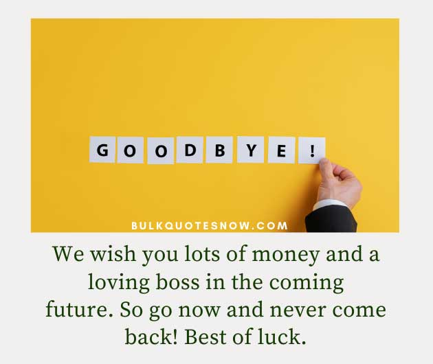 goodbye to loving boss