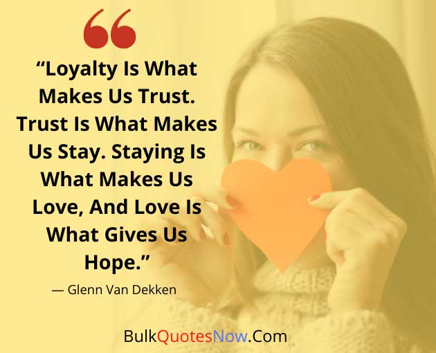 loyalty sayings