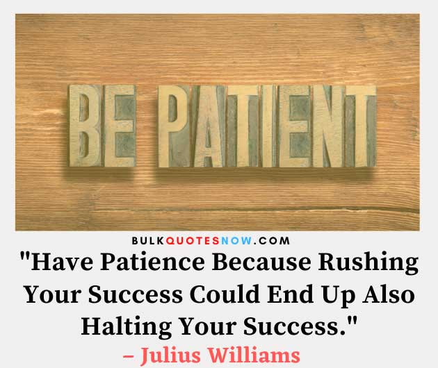 patience is success