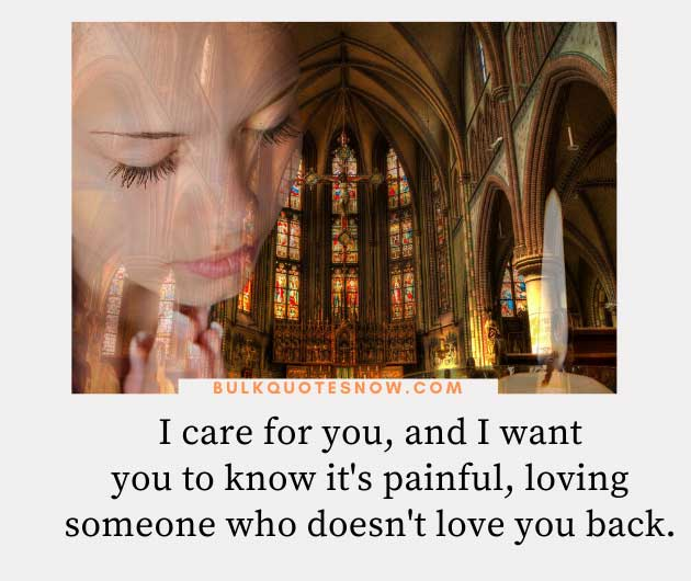 quotes about caring for someone who doesn't care about you