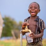 How can I donate water to Africa