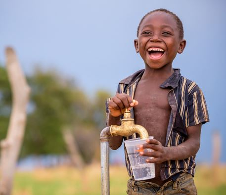 How can I donate water to Africa?