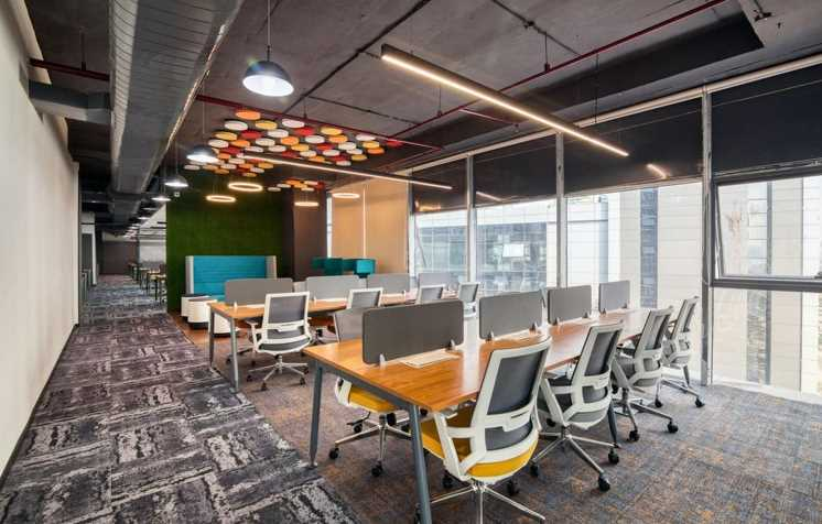 The interior design of the office